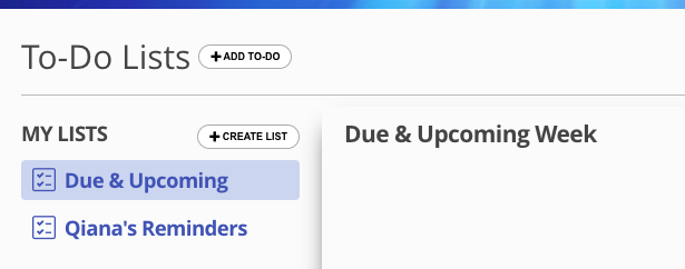 To- do list screenshot in 17hats CRM