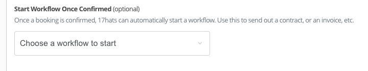 17hats online scheduling  Workflow